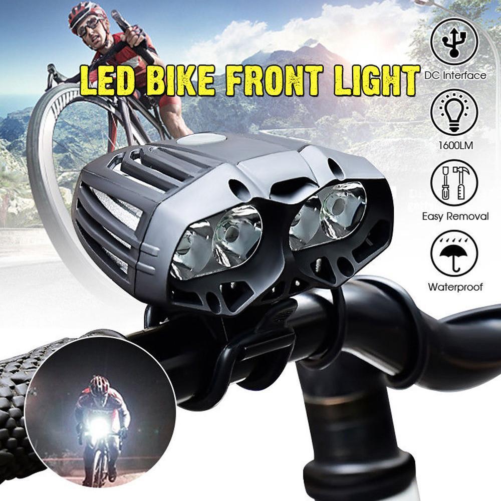Buy Sell Cheapest 4x Cree Xml Best Quality Product Deals Lampu Belakang Sepeda 5 Led 4 Mode Cahaya Plus Usb Vernonstore T6 Mengendarai Bersepeda Depan Senter Kepala Ringan