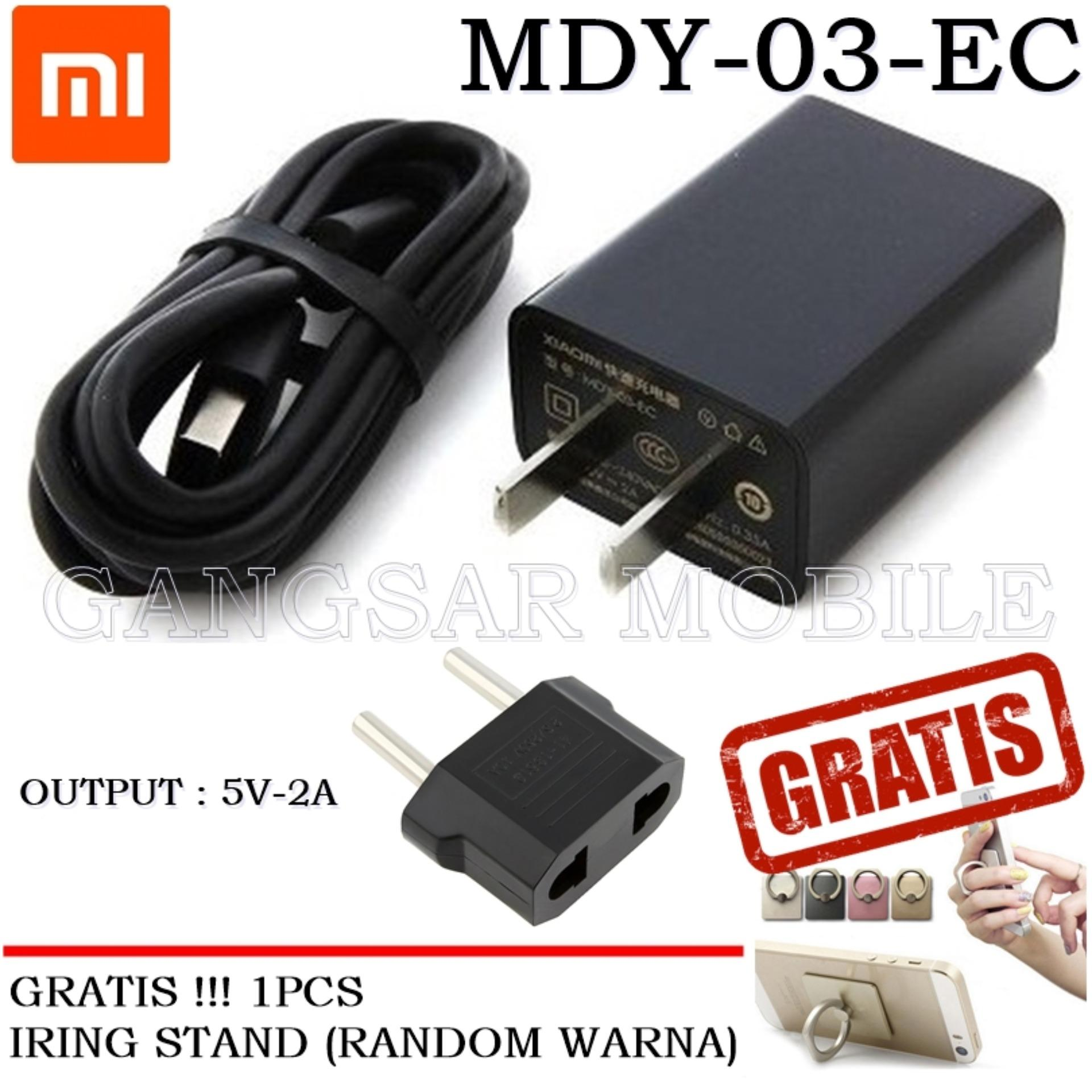 Xiaomi Travel Charger 5V-2A Micro USB Include Adapter ORIGINAL 100% + GRATIS!!! Ringstand HP
