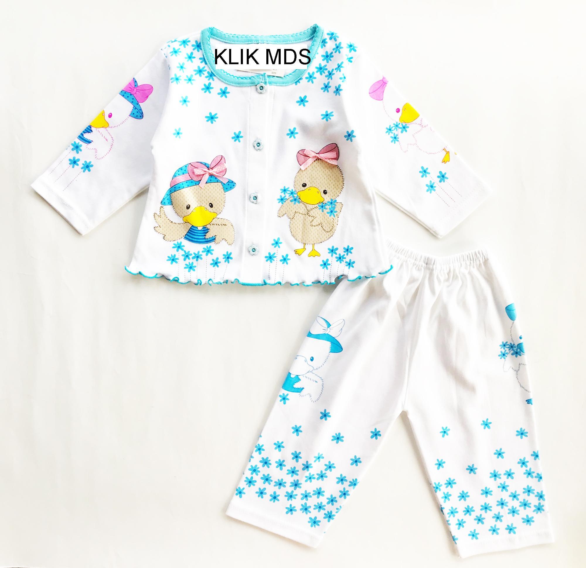 Baju Tidur Bayi Perempuan Piyama Anak Baby 1 3thn Lovely Cow Setelan Laki Klik Mds Motif Bebek Tangan Panjang Celana