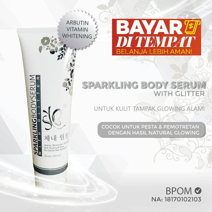 Serum Pemutih Badan - Sparkling Body Serum Original 100% BPOM, Serum Hand Body Lotion Pemutih Badan