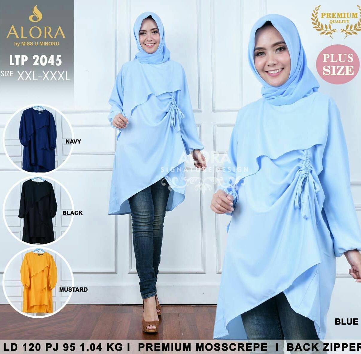 Harga Jual Baju Wanita Dress Batik Tunik Genes Serut D 128700 Jo Lakesha Dusty Khanza Muslimah