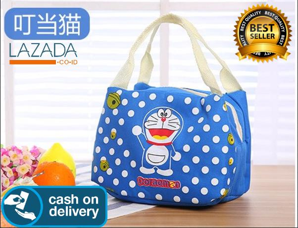 Hybrid Tech - Perlengkapan Anak Lunch Bag Cooler Tas Bekal Anak Motif Doraemon