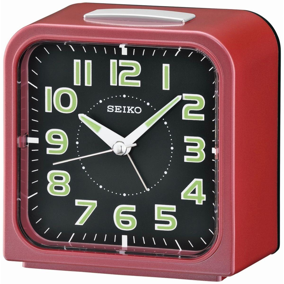 Seiko - Jam Meja Weker - Red - QHK025R Beker Alarm Original Cantik Unik Modern