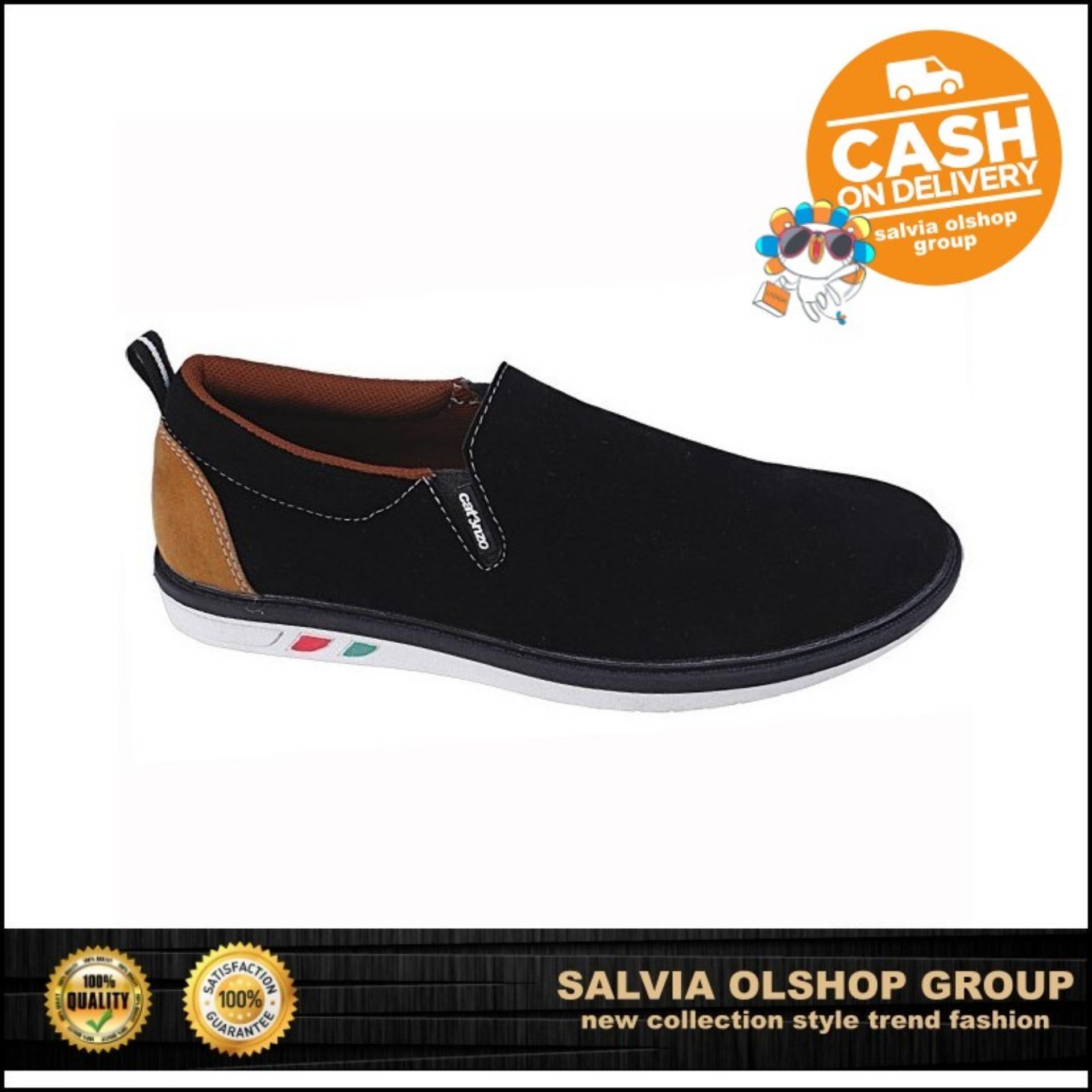 Catenzo Sepatu Slip-On Pria Keren Dan Modis MR 778 - Hitam