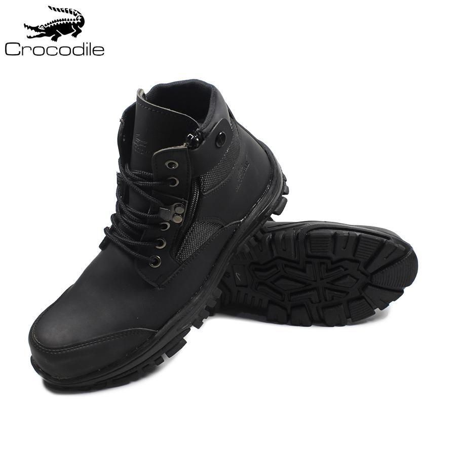 Crocodile Delta Jointer Hitam Sepatu Boots Pria Safety Tracking Ujung Besi  Proyek Kerja Lapangan Hiking Touring efb2c74133
