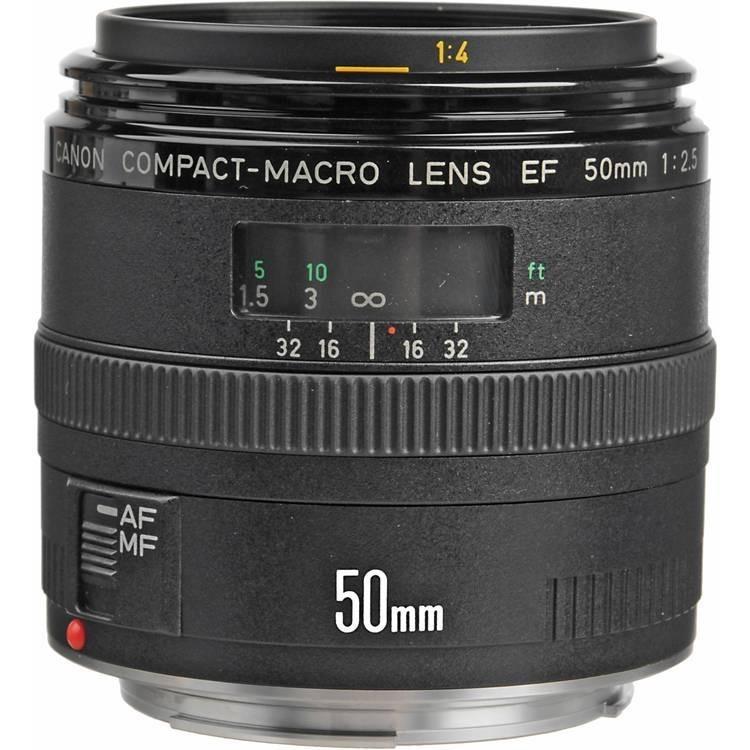 Canon Lens EF50mm f2.5 Compact Macro
