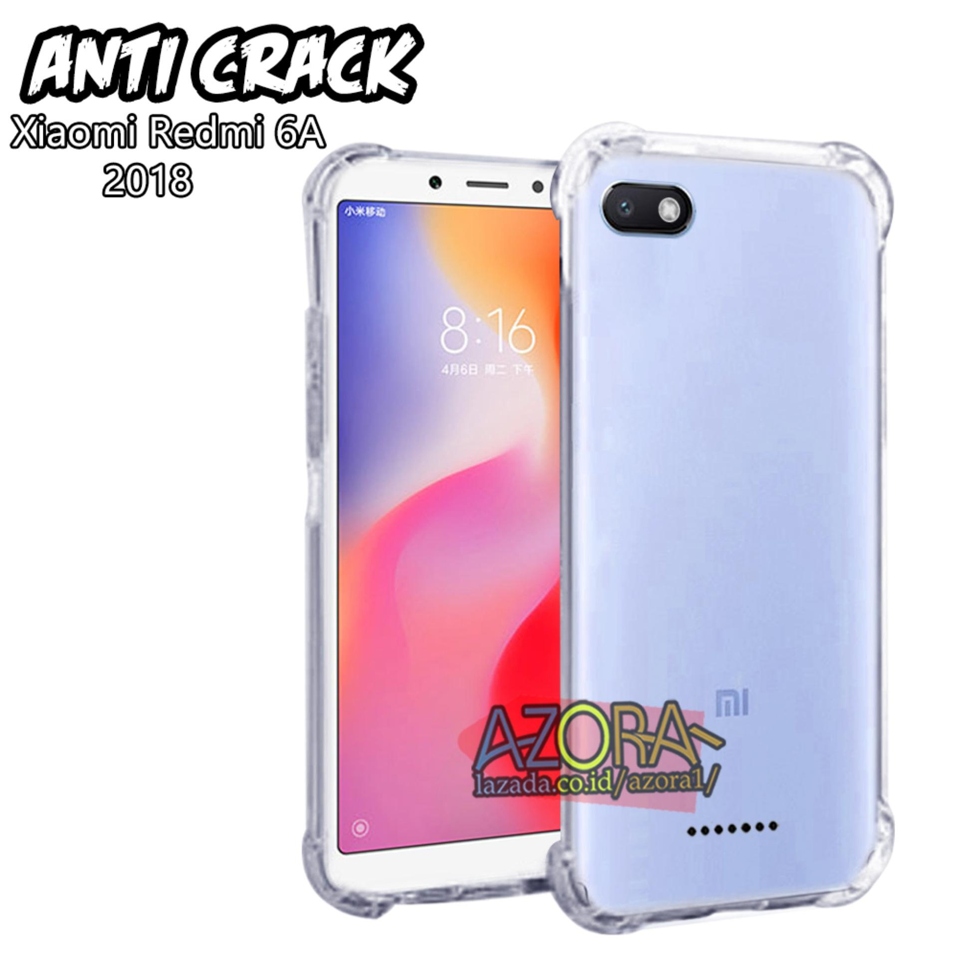 Case Anti Crack Xiaomi Redmi 6A 2018 Ultra Thin Anti Shock Jelly Silikon Shockproof Softcase Azora - Bening