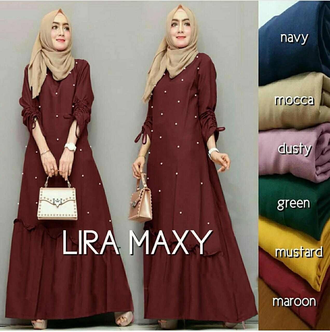 Popdesign Dress Lirea   Dress Gamis Muslim Wanita   Baju Muslim Wanita  Terbaru   Maxi Hijab af62cc18d2