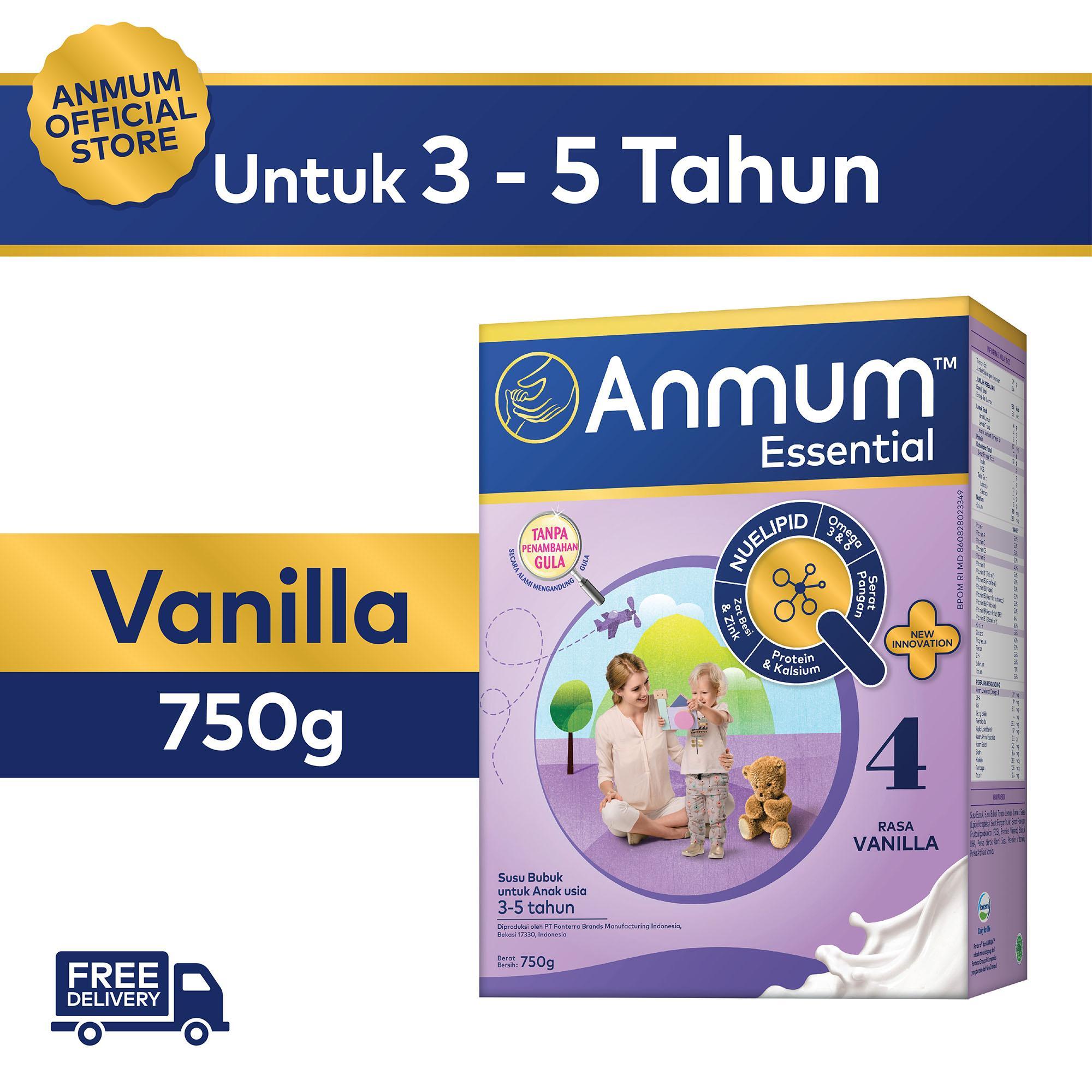 Susu Pertumbuhan 3tahun Terbaik Bebelac 4 Vanilla 800gr Kaleng Anmum Essential 750gr Anak