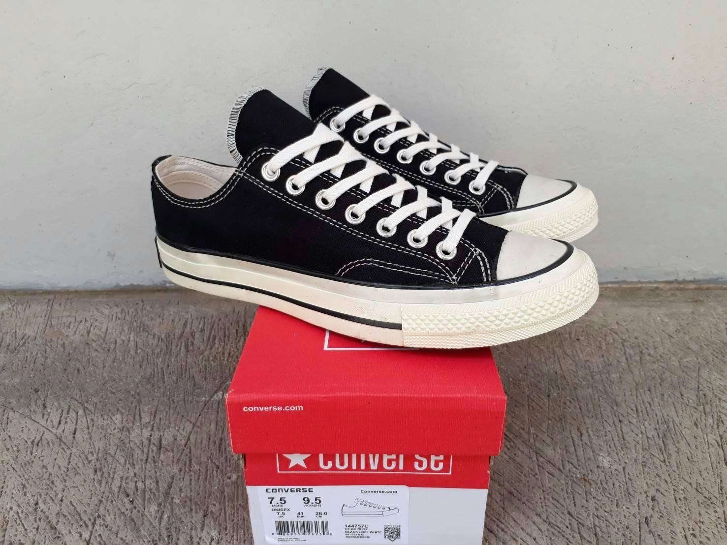sepatu converse low 70.S Black white premium BNIB made in vietnam