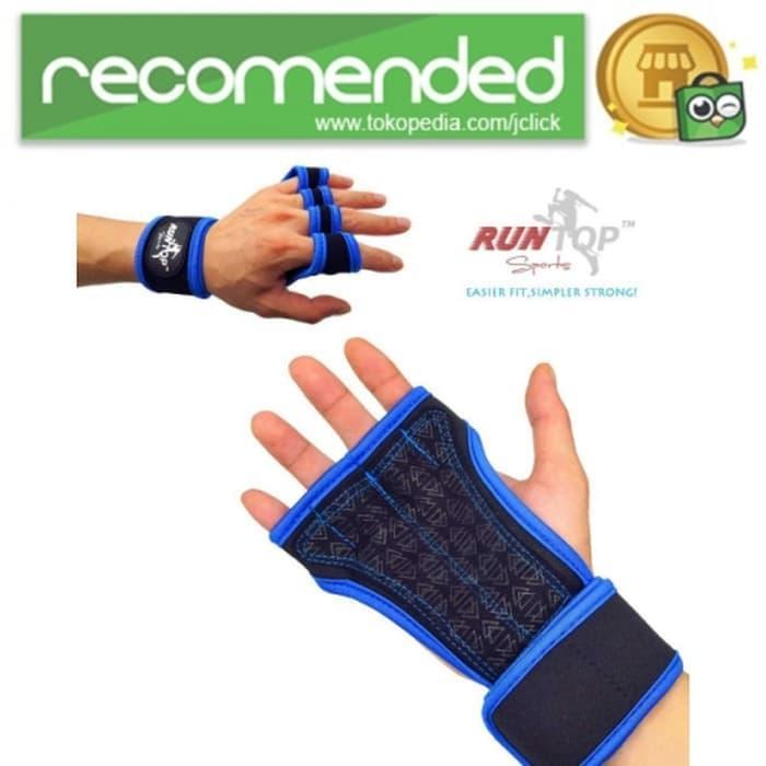 PROMO!!! Runtop Sarung Tangan Gym Weight Lifting Glove Support - Xl - Biru