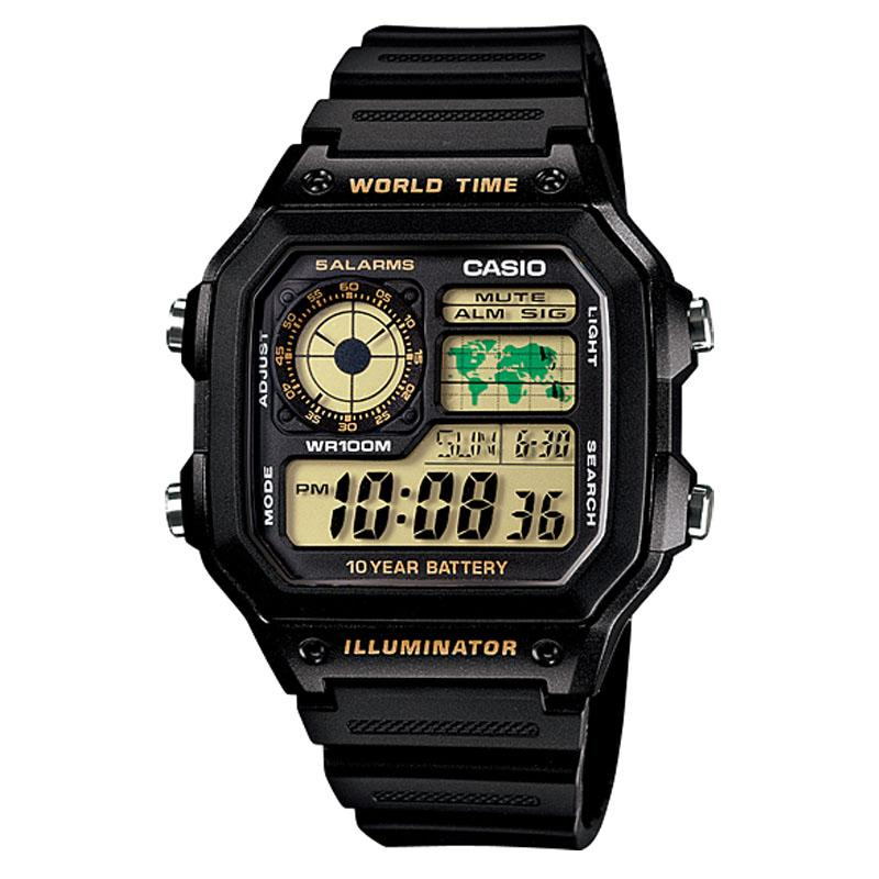 Casio Digital AE-1200WH-1BV - Jam Tangan Pria - Strap Resin - Black    - LM