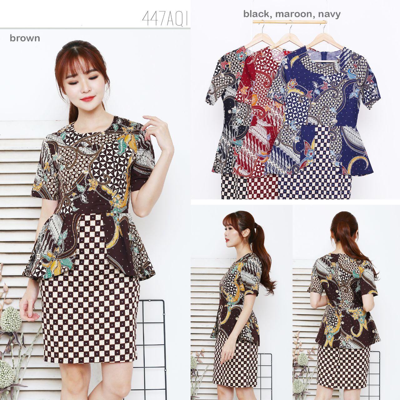 Harga Batik Terbaru 2018 Agrapana Blouse Print Aradhana Hitam Xl Dress 447 Aqi