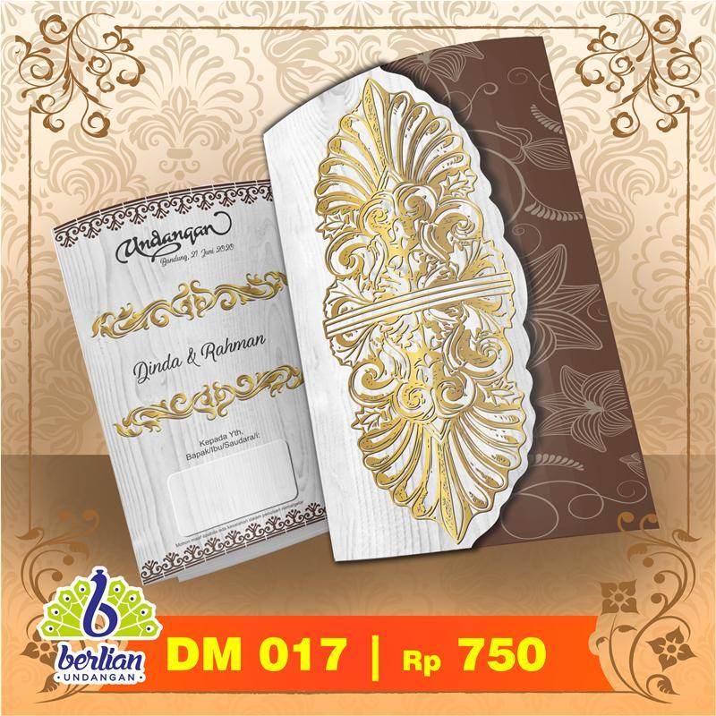 Blangko Kartu Undangan Pernikahan Murah Series DM 017 Embos
