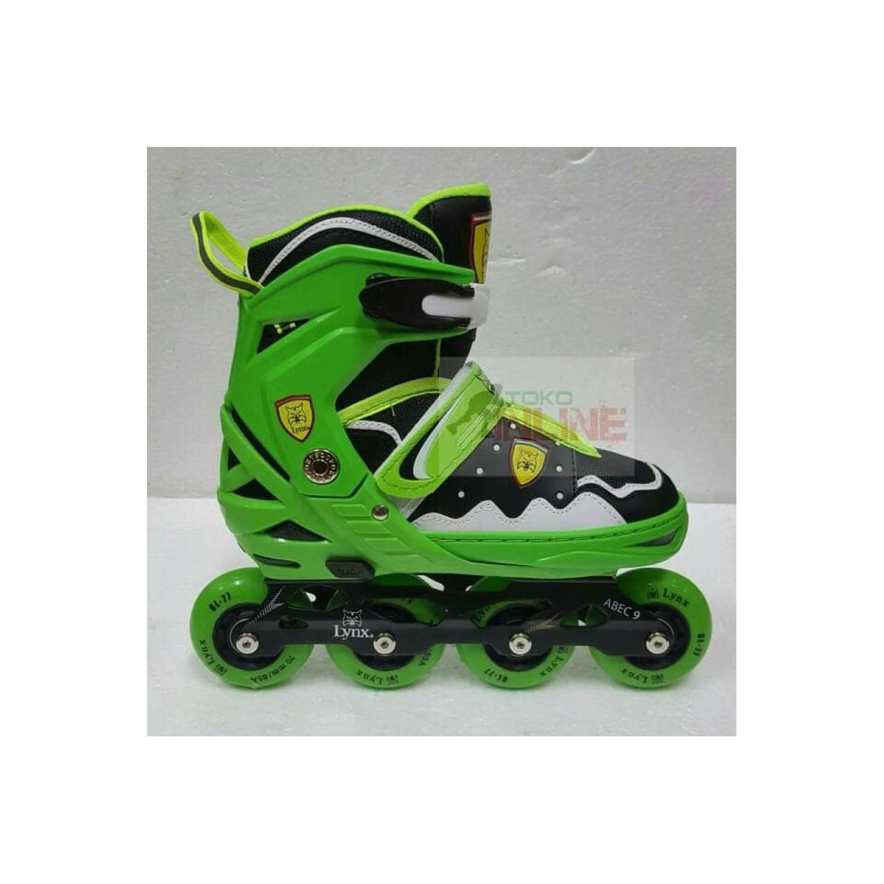 Sepatu Roda LYNX SC70 Recreational Inline Skate - Green Black