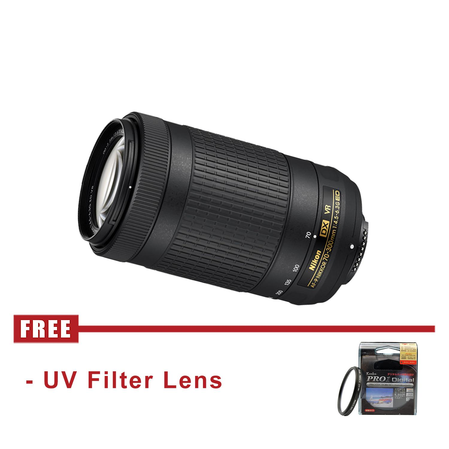 Nikon AF-P DX NIKKOR 70-300mm f/4.5-6.3G ED VR - FREE UV Filter