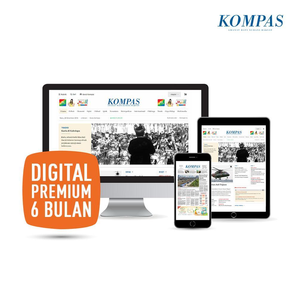 Kompas Digital Premium (6 Bulan) By Harian Kompas.