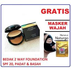Mesh Bedak Colorstay 2-Way Foundation Spf 20 Bedak Padat Dan Basah 2in1 + GRATIS