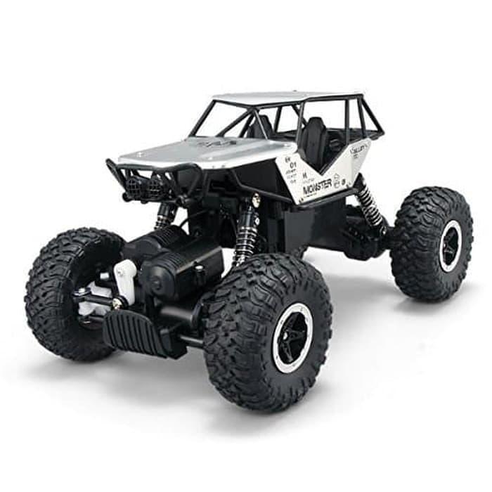 (FREE BATERAI A2) RKJ Mainan Anak RC Mobil Remot Racing Crawler Monster  Offroad 2.4Ghz Bahan Alloy Metal 4WD - 3 Warna 3f0d662fc9