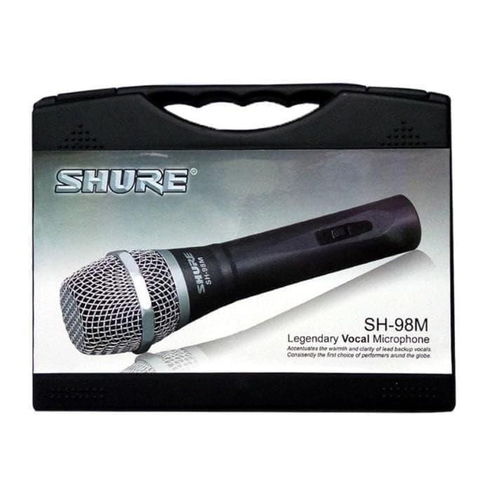Hot Item!! Shure Microphone Legendaris Vocal Sh-98 M  New Di Lengkapi Koper - ready stock