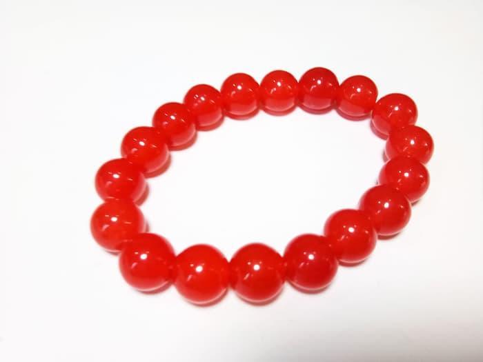 Promo Big Sale Perhiasan Aksesoris Vee Gelang Batu Giok Merah Cabe Dim 10 Terapi Kesehatan By Natural Gemshop.