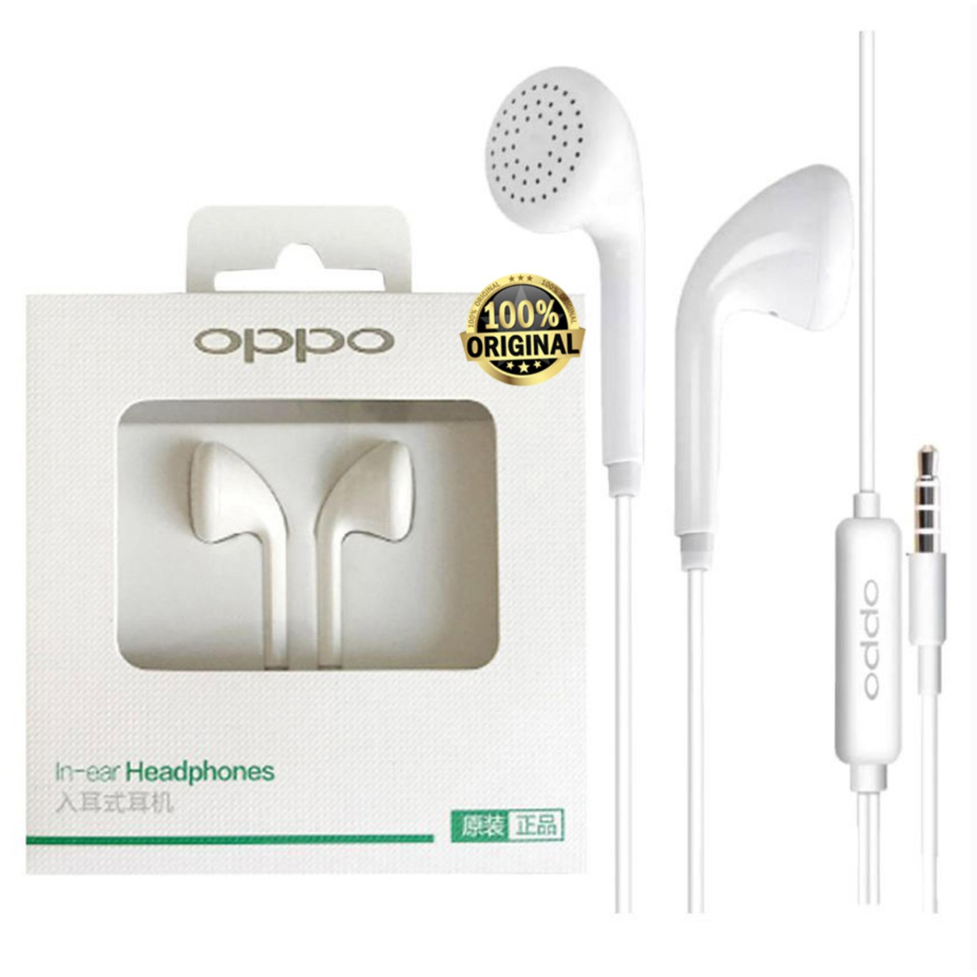 Oppo MH133 Music Smart Call Headset / Hansfree Phones Oppo F5 & F5 Youth Connected - White