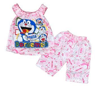 Pencarian Termurah BAYIe - Setelan Baju bayi Perempuan Karet motif DORAEMON HOOKA usia 0 -12