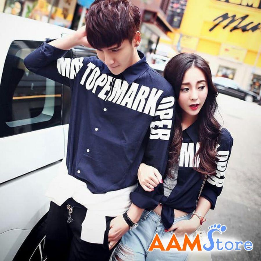 Baju Kemeja Couple Pasangan Terbaru Topermark Grosir Unik Terlaris