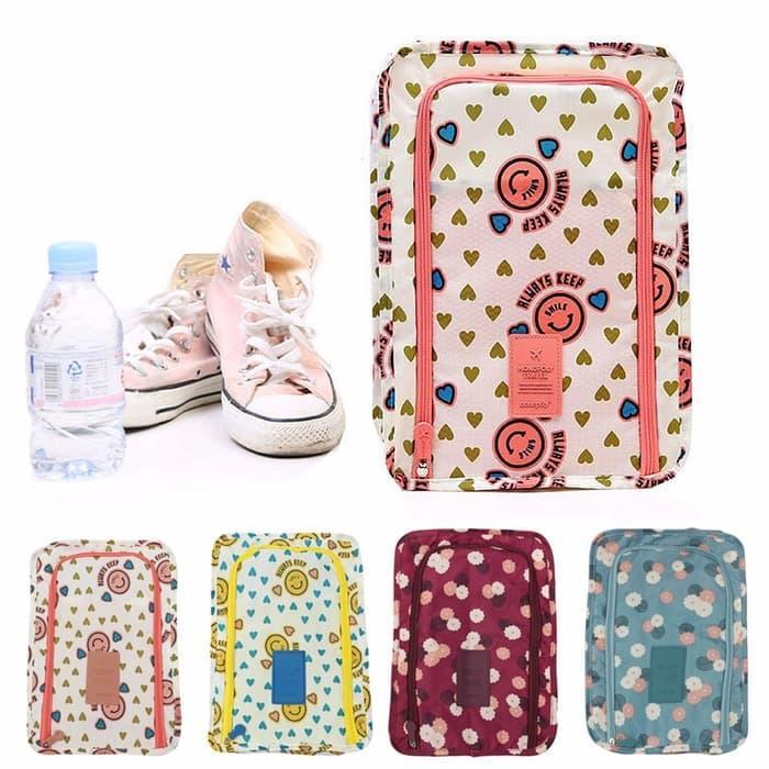 Monopoly Flower shoes pouch travel ver 3 / tas sendal sepatu