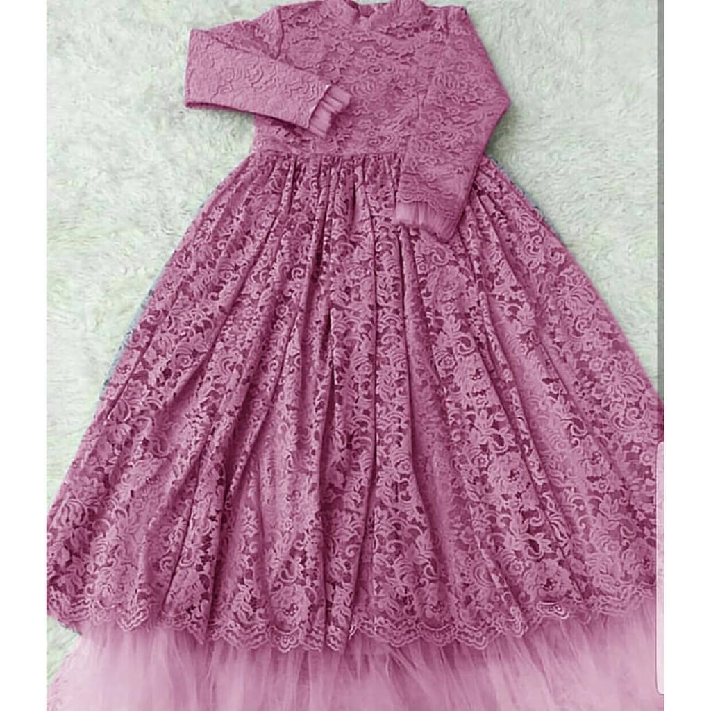 Gamis Pakian Muslimah Wanita Azmi Syari Salem7 Daftar Harga Baju Kekinian Dress Sauqina M Sw Rayon Mall Murah Beleza Premium Mc Fashion Atasan Tunik Size