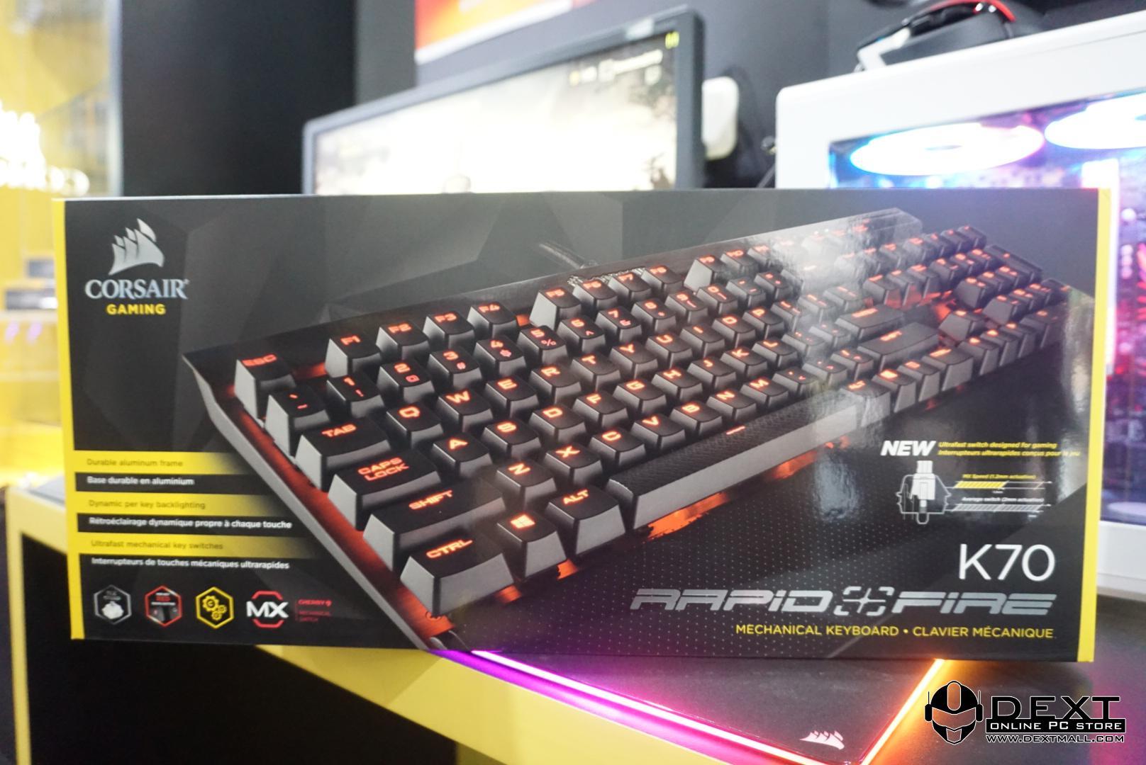 Corsair Strafe Rgb Gaming Mechanical Keyboard Brown Switch Hitam K70 Lux Red Led Rapidfire