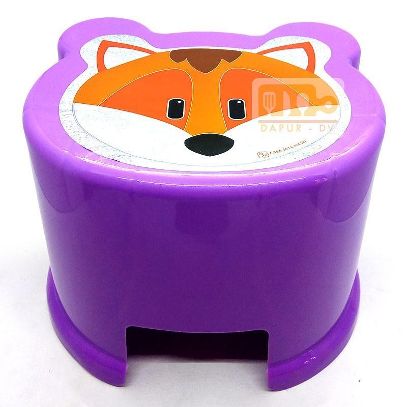 Kursi anak safari / bangku anak plastik motif karakter - random colour