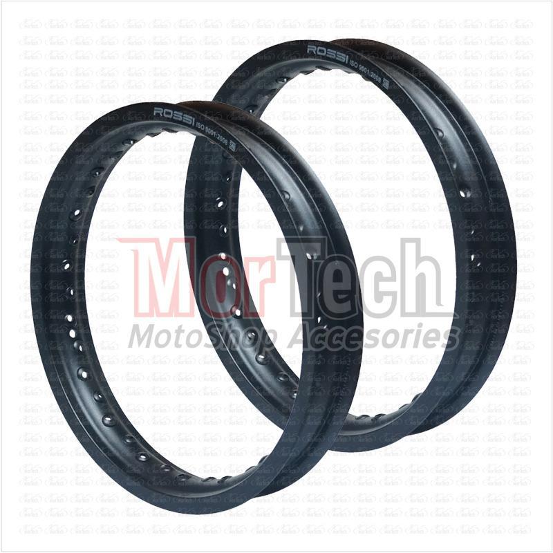 Rossi Velg Pelek Rim Jari jari Ring 14 Lebar 185 - 215 Type W 36 Hole Hitam