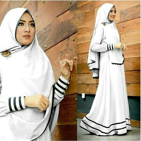 SM Grosir SM3011 Baju Muslim / Bahan Premium / Long Dress Gamis / Setelan Gamis / Gamis Syari / Baju Wanita / Gamis Cantik / Steting Jepang
