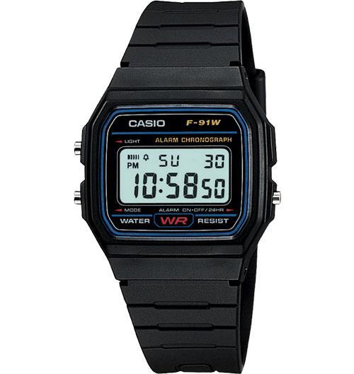 Casio Digital Watch Jam Tangan Unisex - Hitam - Resin Strap - F-91W- a1e8c76cdd