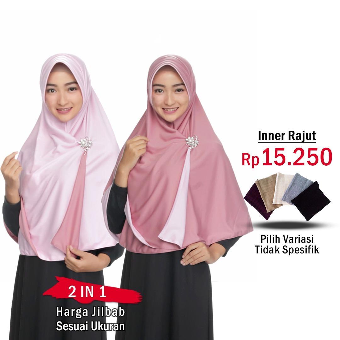 Zaannah Hijab Jilbab Bolak Balik Instan 2 in 1 atau INNER RAJUT DALAMAN JILBAB || Hijab Instant Bergo Fashion Muslim Terbaru Wanita Kekinian Model Sekarang Model Jaman Now Dua warna Khimar Syari Jumbo Jilbab Pengajian Pesta Multifungsi Pet Anti Tembem
