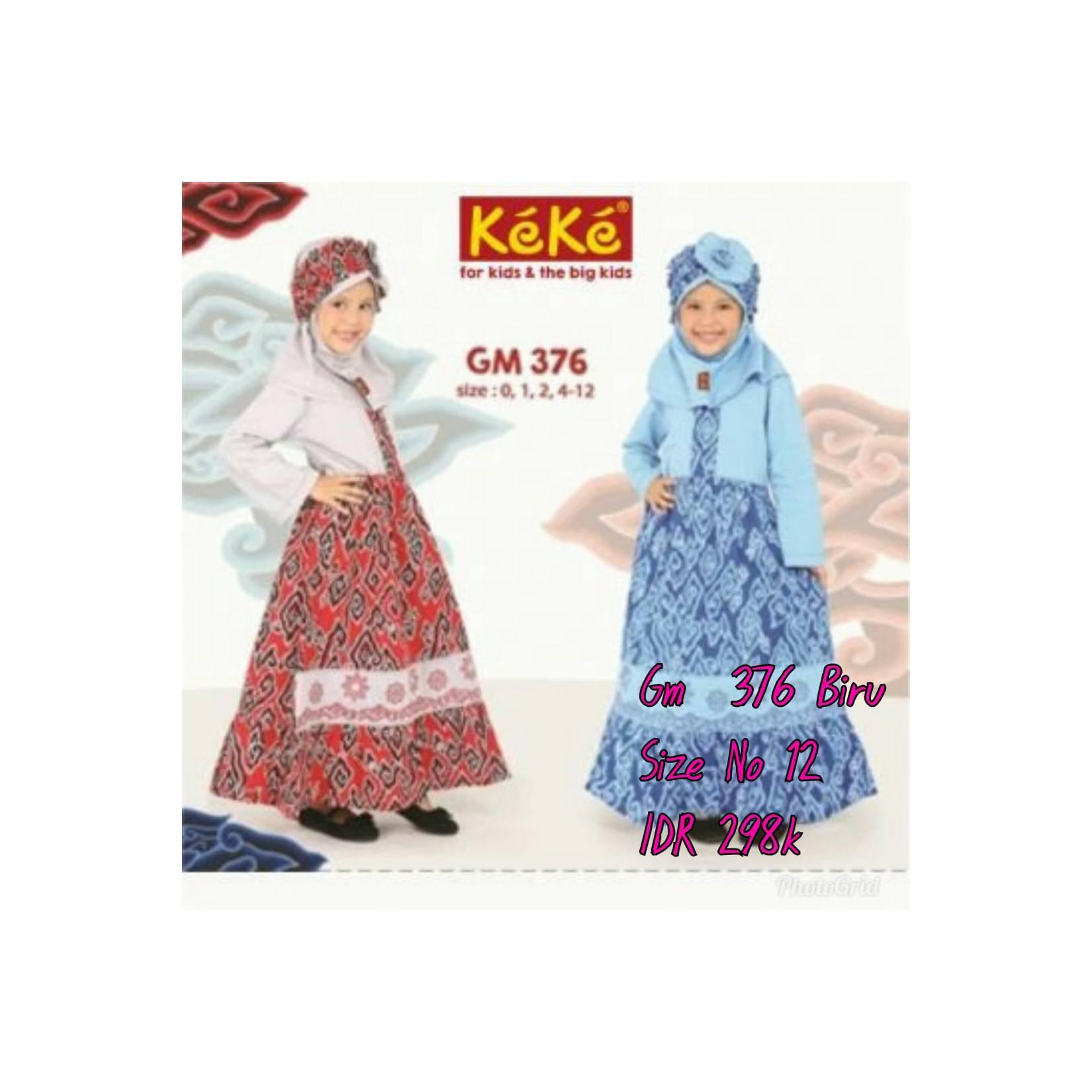 Keke Baju Anak Muslim GM 376 Biru No12 Diskon / Sale / Obral 25%