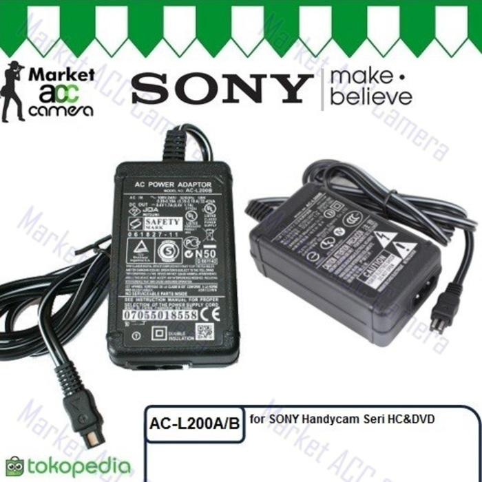 Adaptor/Adapter Sony AC-L200A/L200C Charger for Handycam HC&DVD series TERLARIS