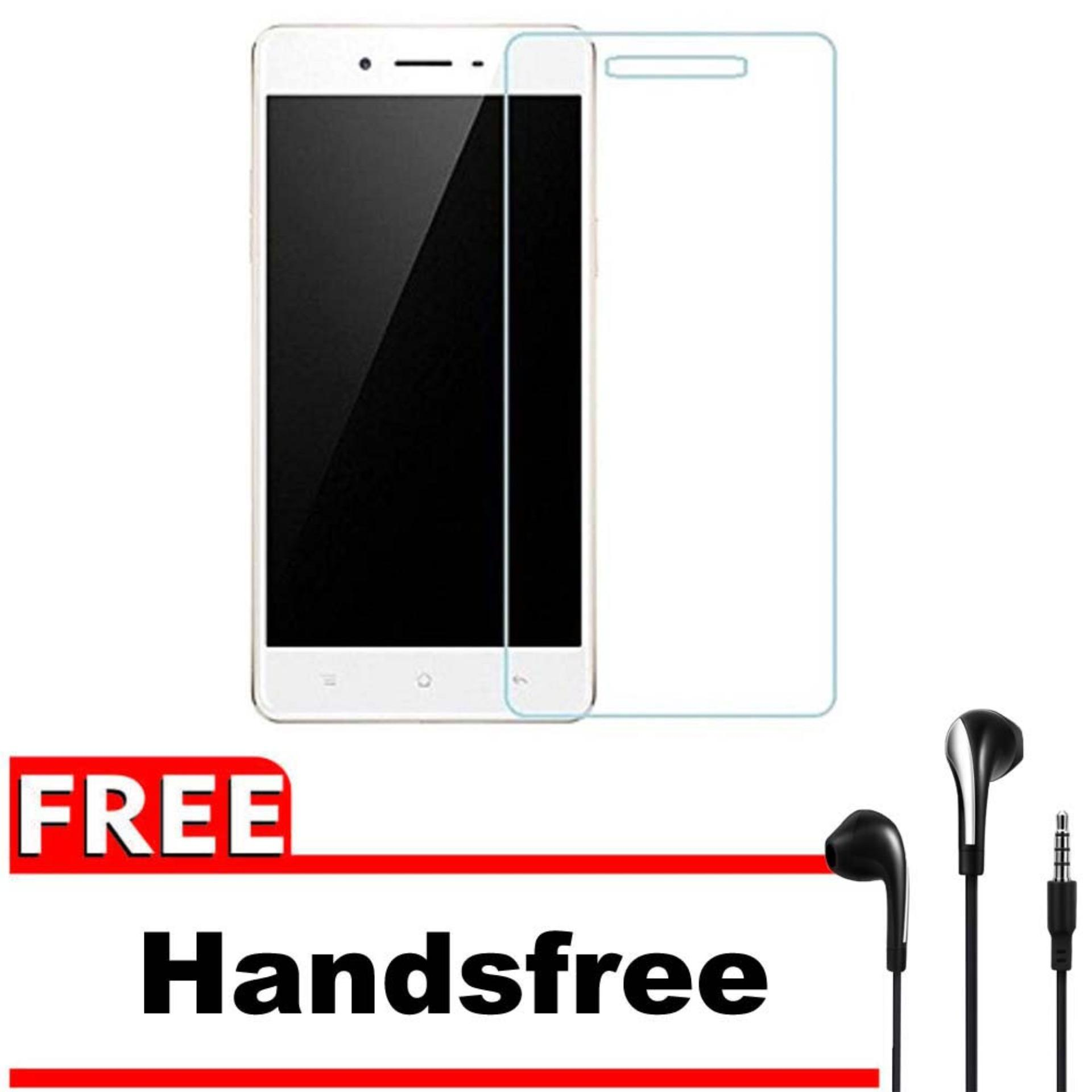 Vn Smartfren Andromax E2+ Plus Tempered Glass 9H Screen Protector 0.32mm + Gratis Free Handsfree