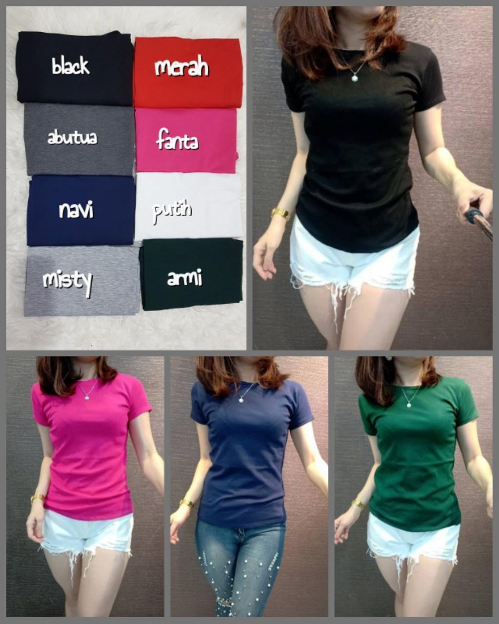 Newone Shop Oneck - Baju Wanita Termurah - Baju Basic Wanita - Baju Wanita  8 Warna 543294665c