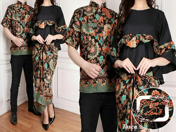 Couple Batik Kipas Peplum Set 3In1 Lunamaya Tosca