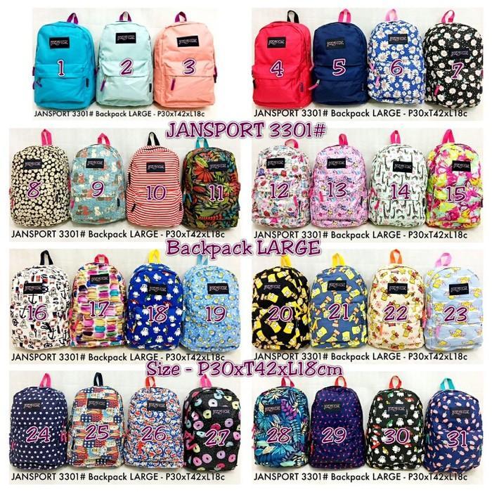 Tas Ransel Jansport Big 3301 Besar Large Backpack Xl Pria Wanita - Yuqgtb