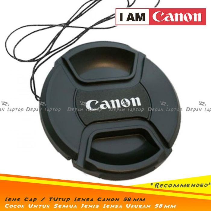 Promo Lens Cap Tutup Penutup Lensa Kamera 58mm Logo Canon Kit 18-55mm dll original