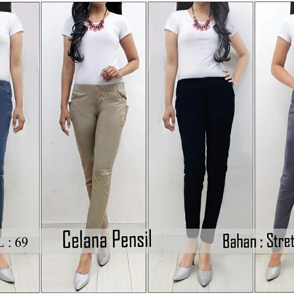 Diskon Terlaris Celana Wanita Celana Fashion Celana Panjang  Celana Pensil Celana Katun Stretch