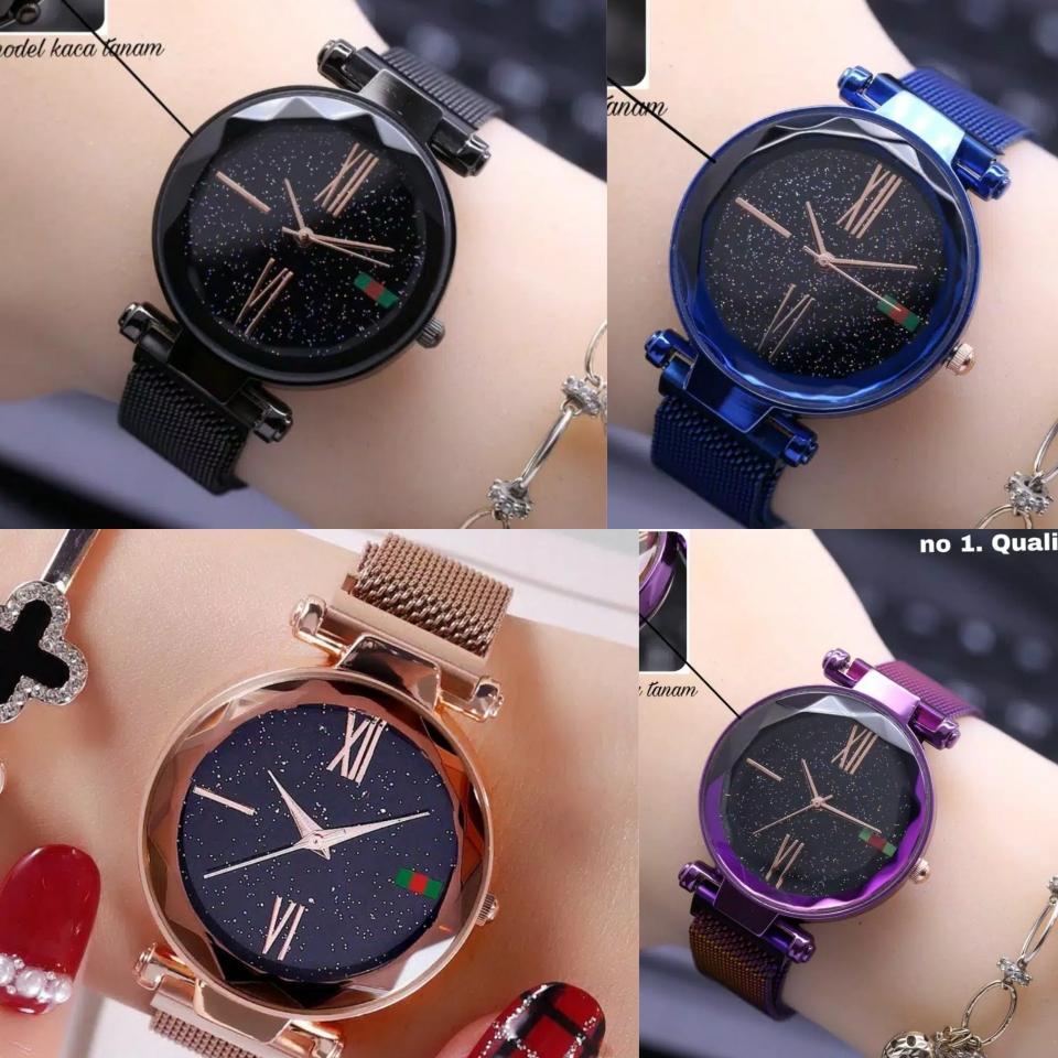 jaya shop jam tangan wanita kaca crystal klep magnet FREE BOX dan BATERAI  CADANGAN BISA BAYAR 2e92a6e14c