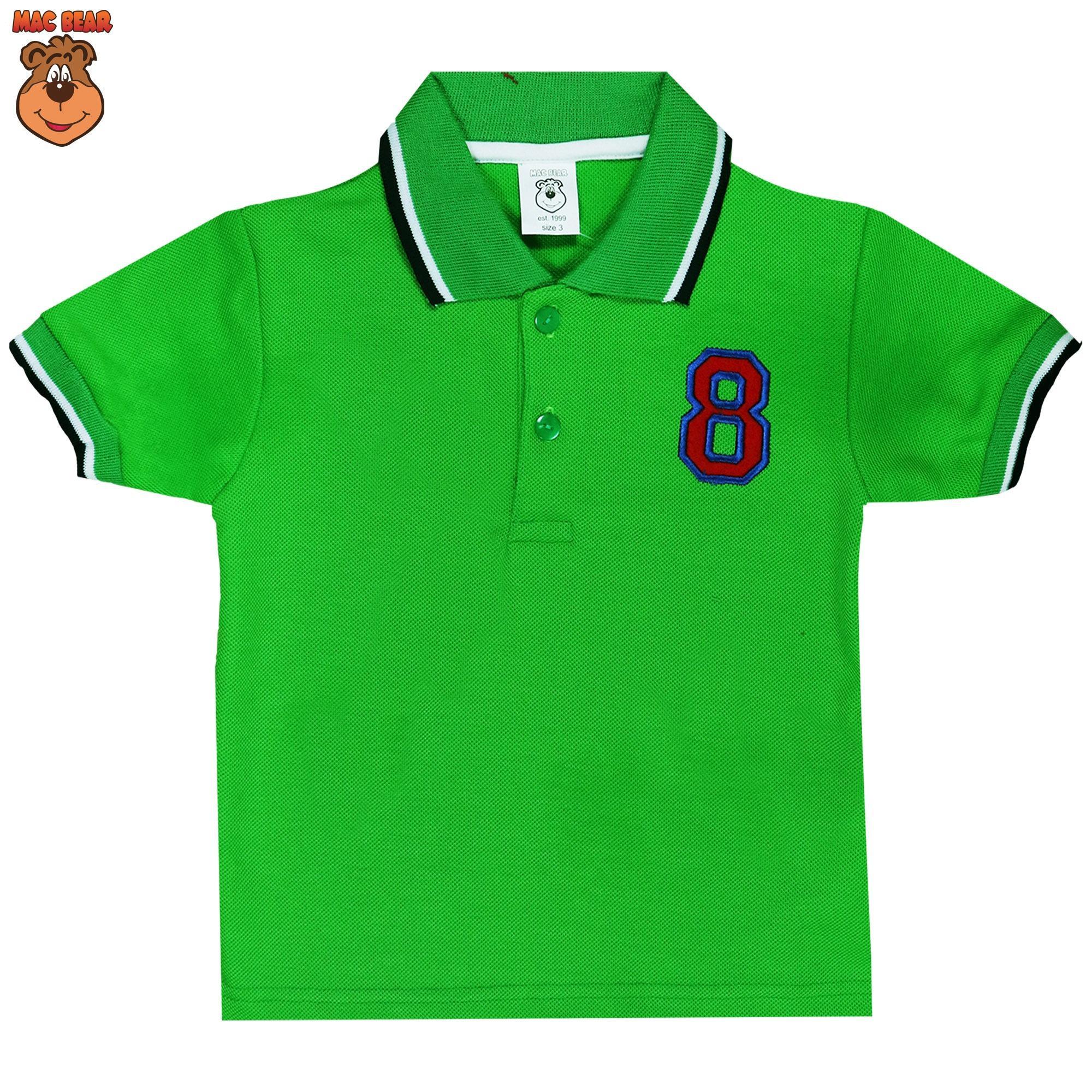 Macbear Baju Polo Anak M For White Stripes On Yellow Size 3 Hx5 1710 Kids Setelan Boss Panda 4 Abu Muda Home