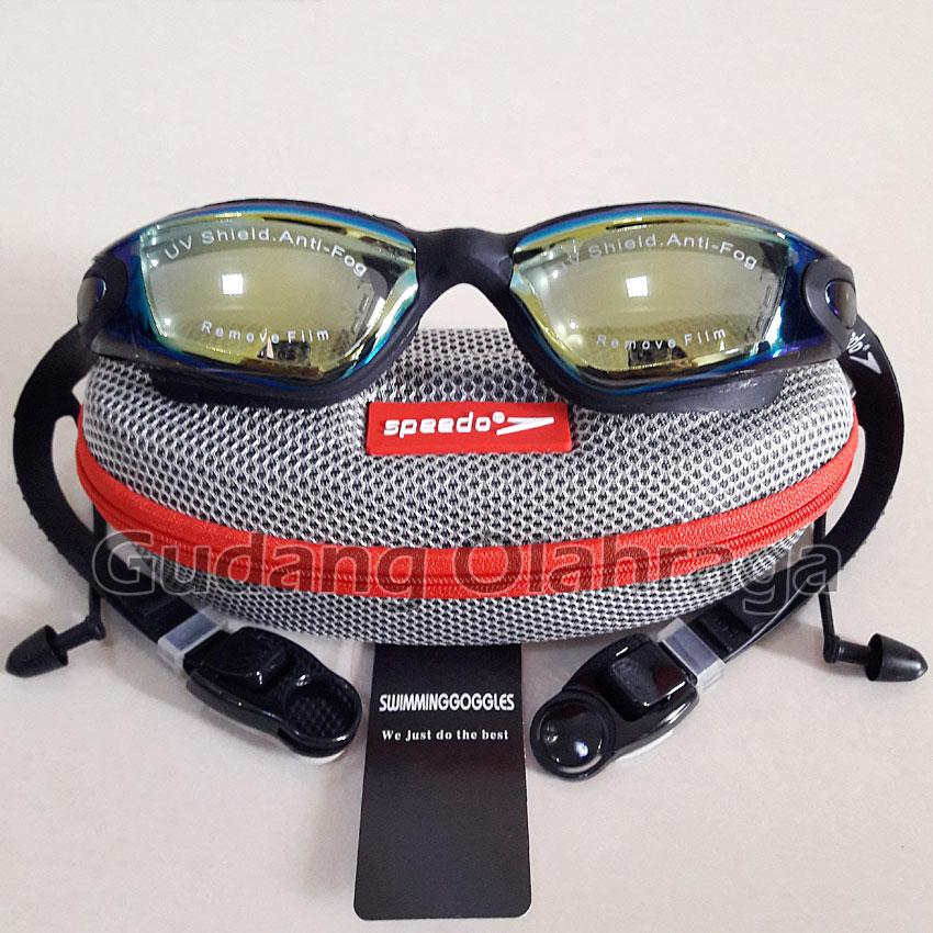 Speedo 866 Kacamata Renang Anti Fog & Uv Protection - Black By Gudang Olahraga.