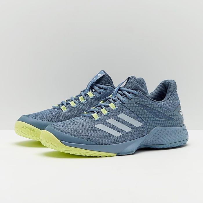 Sepatu Tennis Adidas Adizero Club 2018 - Grey/Yellow Original