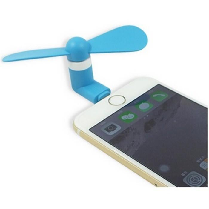 Best Seller Lightning Port 8 Pin Mini Kipas Angin Portable USB Fan For Iphone 5 6 Termurah Dan