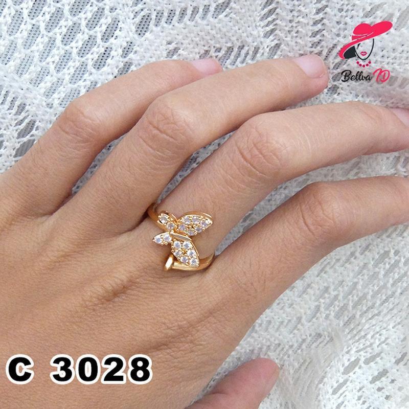 Jual Aksesoris Cincin Lapis Emas Kupu Kupu gold C 3028